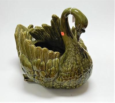 Lot 23 - A continental Majolica glazed earthenware...