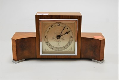 Lot 41-An Art Deco Elliot walnut and figured walnut...