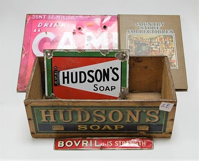 Lot 44-A Hudson's Soap enamel advertising sign (with...