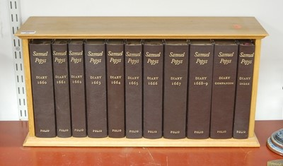 Lot 46-Samuel Pepys Diaries, ten folio edition in blond...