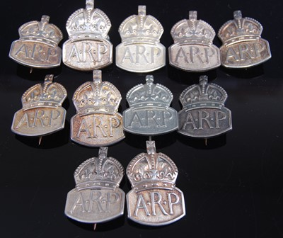 Lot 71-A silver Air Raid Precaution (ARP) badge