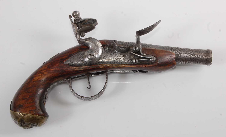 Lot 35-An 18th century flintlock pistol