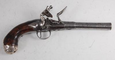 Lot 9 - David Wynn of London, an 18th century Queen Anne flintlock pistol