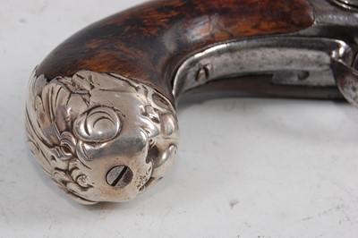 Lot 9-David Wynn of London, an 18th century Queen Anne flintlock pistol