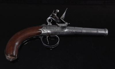 Lot 4 - An 18th century flintlock boxlock pistol