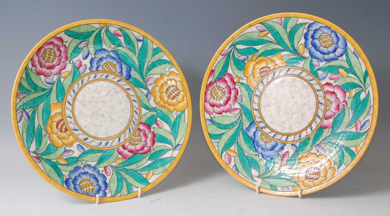 Lot 1-Charlotte Rhead for Crown Ducal - a pair of...
