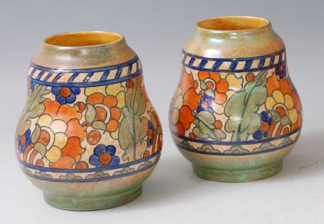 Lot 2-Charlotte Rhead for Crown Ducal - a pair of...