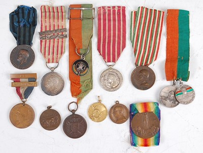 Lot 51-A collection of mainly Continental medals to include