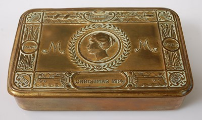 Lot 67-A WW I Princess Mary Christmas gift tin.