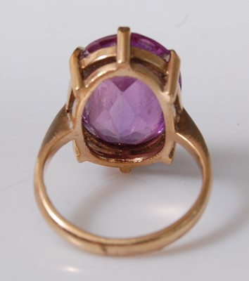 Lot 2501-A 9ct yellow gold and synthetic purple...