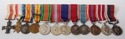 Lot 17-A group of twelve miniature medals to include