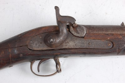 Lot 40-A 19th century and later adapted three band percussion cap rifle