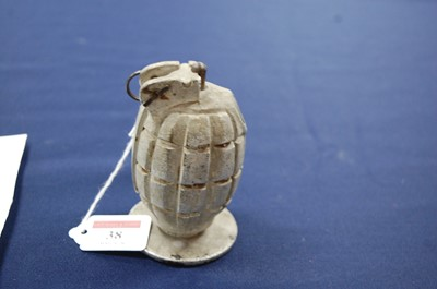 Lot 38-A deactivated Mills No.36 grenade