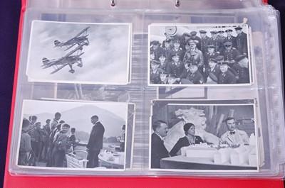 Lot 10-An album of Third Reich photographs, postcards...