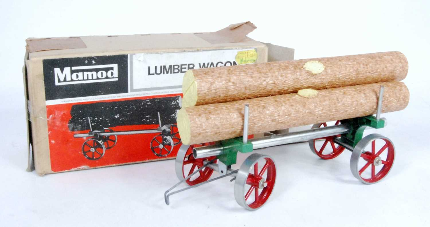 Lot 6-A Mamod LW1 lumber wagon of usual...