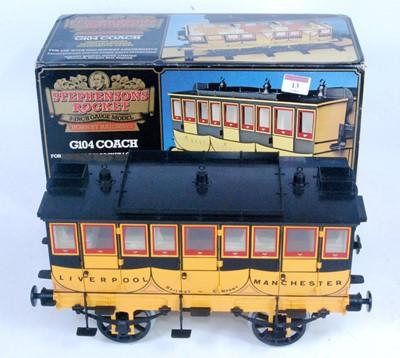 Lot 13-A Hornby G104 coach for Rocket locomotive,...
