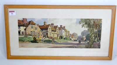 Lot 16-An original framed and glazed railway carriage...