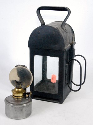 Lot 17-A BR Midland Region Railway hand lamp, mark to...