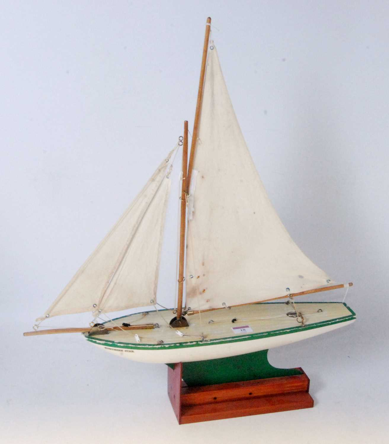 Lot 18-A Star Yachts of Birkenhead wooden sailing...