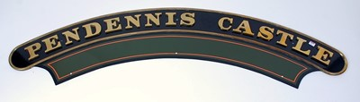 Lot 24-A reproduction locomotive nameplate and...