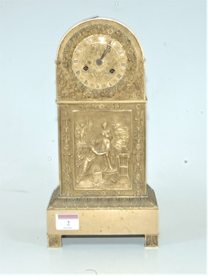 Lot 2-A late 19th century French dome topped brass...