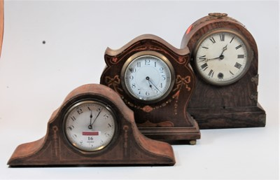 Lot 16-An Edwardian mahogany and satinwood inlaid cased...