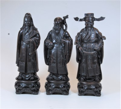 Lot 17-A set of three modern resin figures of the gods...