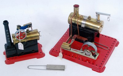 Lot 28-A Mamod stationary steam plant group, two...