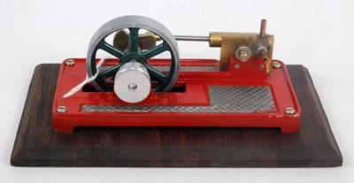 Lot 29 - A kit built stationary steam horizontal mill...