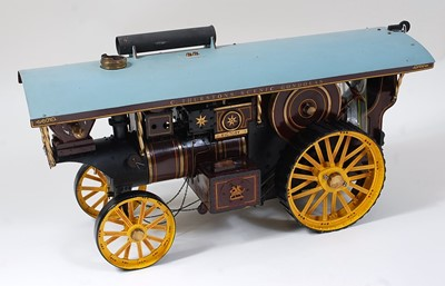 """Lot 30-A finely built 1"""" scale live steam Burrell..."""