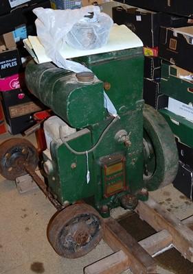 Lot 40 - A RA Lister & Co. model No. 26DH petrol engine,...