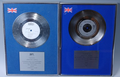Lot 512-Enya, a silver presentation record for the...