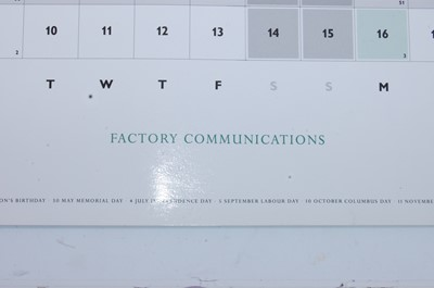 Lot 519-A Factory Communications (Factory Records)...