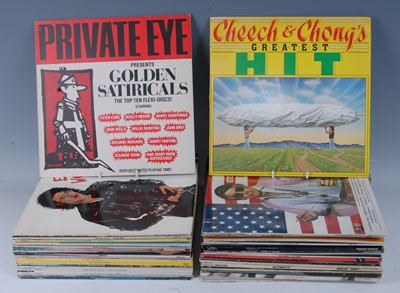 Lot 529-A collection of various comedy LP's to include...