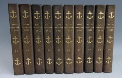 Lot 1004-Clarke, J & M'Arthur, J. The Naval Chronicle...