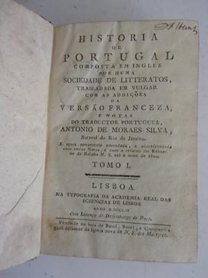 Lot 1008-SILVA, Antonio De Moraes, Historia de Portugal....
