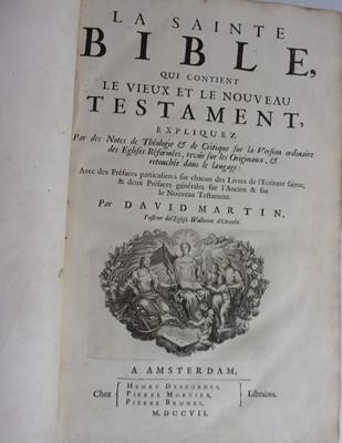 Lot 1017-MARTIN, David, La Sainte Bible, qui contient...