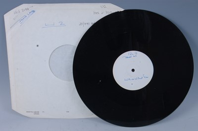 Lot 547-U2, With Or Without You, a rare UK white label...