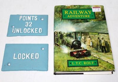 Lot 1-A hardback book Railway Adventure by LTC Rolt...