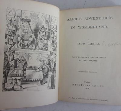 Lot 1021-*CARROLL, Lewis. Alice's Adventures in...