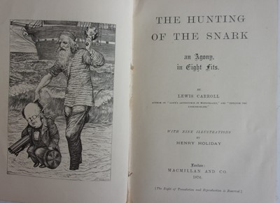 Lot 1022-*CARROLL, Lewis. The Hunting of the Snark....