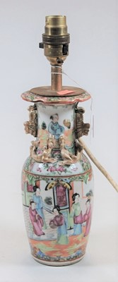 Lot 3-A 19th century Chinese Canton vase of baluster...