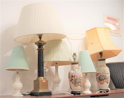 Lot 9-A collection of table lamps to include two in...