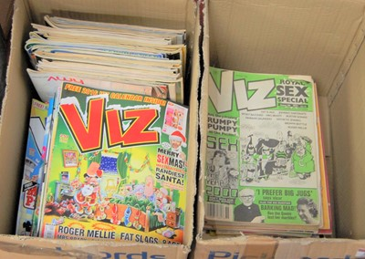 Lot 21-A collection of Viz comics in two boxes
