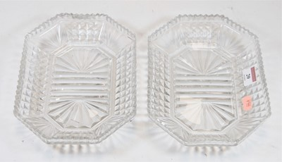 Lot 20-SIX early 19th century cut glass sweetmeat...