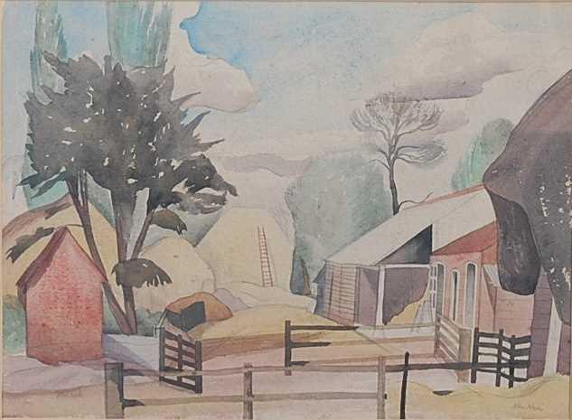 Lot 268 - John Northcote Nash (1893-1977) - Farmyard...