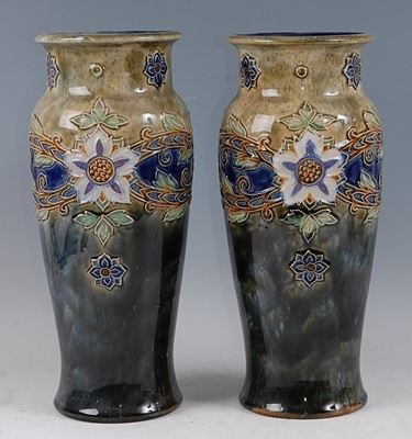 Lot 10-A pair of large circa 1900 Royal Doulton...