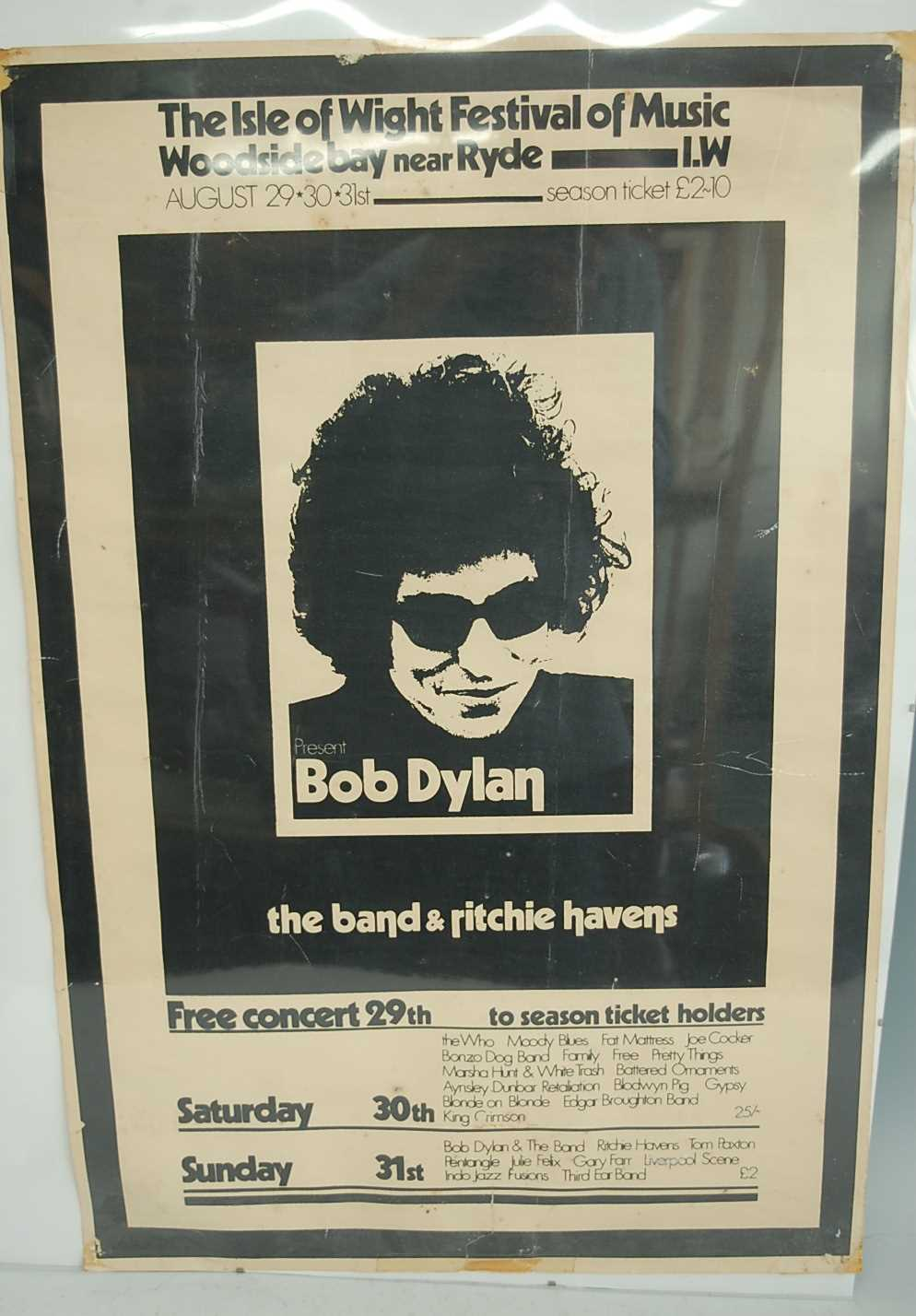 Lot 686 - An Isle Of Wight Festival poster, 29th, 30th...