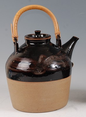 Lot 33-Beryl Debney - a large studio pottery hot...
