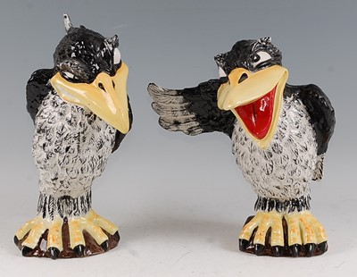 Lot 20-Lorna Bailey - Pair: Jim the Jackdaw and Ray...